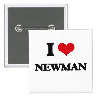 I Love Newman 15 Cm Square Badge