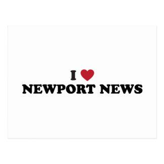 I Love Newport News Virginia Postcard