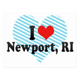 I Love Newport, RI Postcard