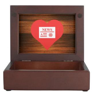 I Love News Articles Keepsake Boxes