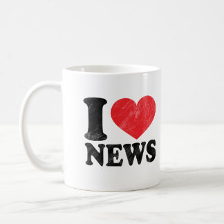 I Love News Coffee Mug