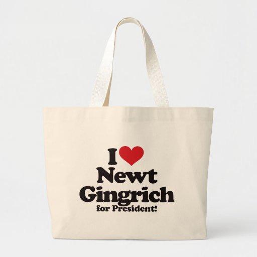 I Love Newt Gingrich for President Bag