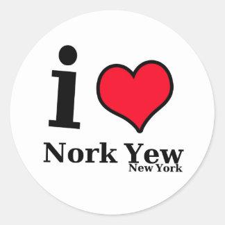 I love NEWYORK Round Sticker