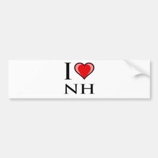 I Love NH - New Hampshire Bumper Sticker