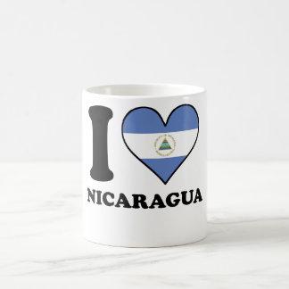 I Love Nicaragua Nicaraguan Flag Heart Coffee Mug