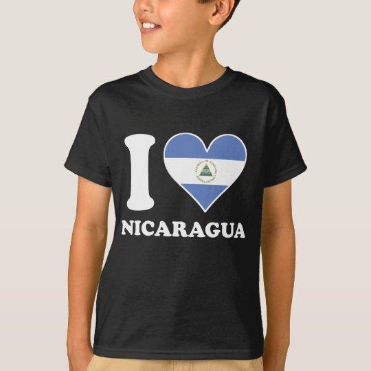 I Love Nicaragua Nicaraguan Flag Heart T-Shirt