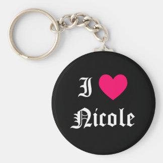 I Love Nicole Key Ring