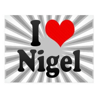 I love Nigel Postcard