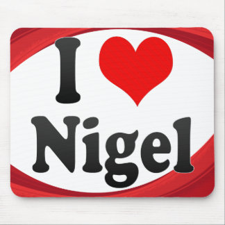 I Love Nigel, South Africa Mouse Pad