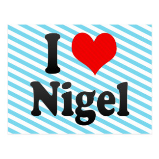 I Love Nigel, South Africa Postcard