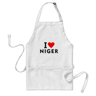 I love Niger country like heart travel tourism Standard Apron