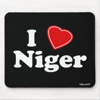 I Love Niger Mouse Pad