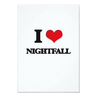 """I Love Nightfall 3.5"""" X 5"""" Invitation Card"""