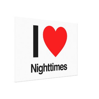 i love nighttimes stretched canvas prints