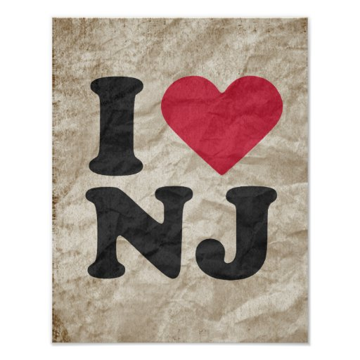 I LOVE NJ PRINT