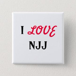 I, LOVE, NJJ 15 CM SQUARE BADGE