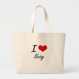 I Love Noisy Jumbo Tote Bag