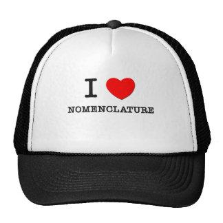 I Love Nomenclature Cap