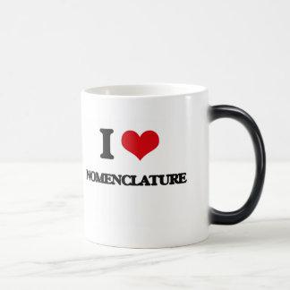 I Love Nomenclature Mugs