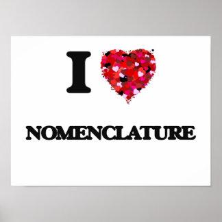 I Love Nomenclature Poster