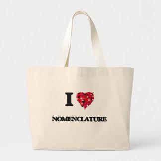 I Love Nomenclature Jumbo Tote Bag