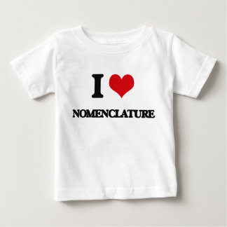 I Love Nomenclature T Shirts