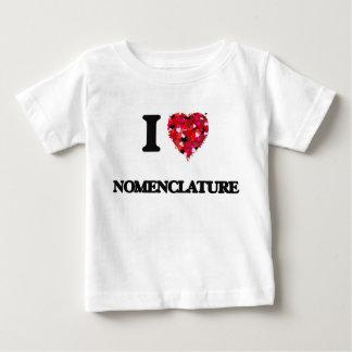 I Love Nomenclature Tshirts