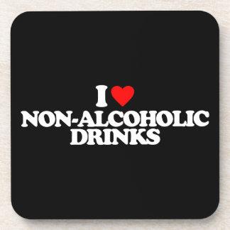 I LOVE NON-ALCOHOLIC DRINKS COASTERS