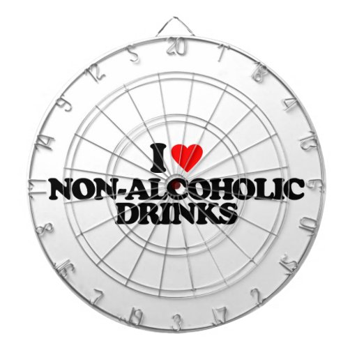 I LOVE NON-ALCOHOLIC DRINKS DARTBOARD WITH DARTS
