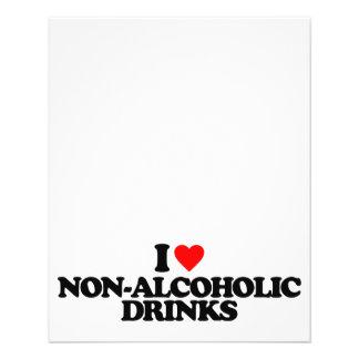 I LOVE NON-ALCOHOLIC DRINKS FLYER