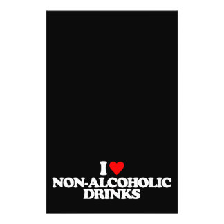 I LOVE NON-ALCOHOLIC DRINKS PERSONALIZED FLYER