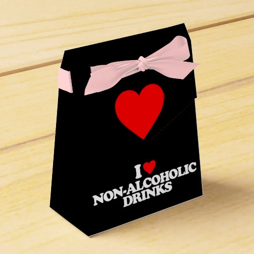 I LOVE NON-ALCOHOLIC DRINKS PARTY FAVOR BOX