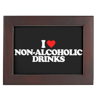 I LOVE NON-ALCOHOLIC DRINKS KEEPSAKE BOX