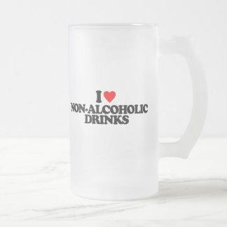 I LOVE NON-ALCOHOLIC DRINKS GLASS BEER MUG