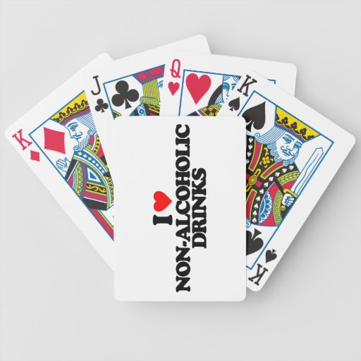 I LOVE NON-ALCOHOLIC DRINKS BICYCLE POKER DECK