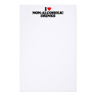 I LOVE NON-ALCOHOLIC DRINKS STATIONERY