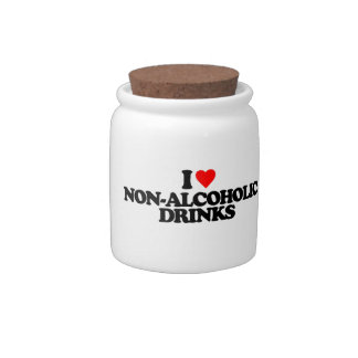 I LOVE NON-ALCOHOLIC DRINKS CANDY JAR