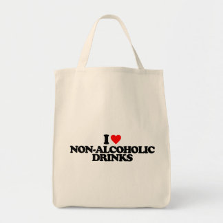 I LOVE NON-ALCOHOLIC DRINKS TOTE BAGS