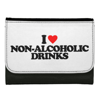 I LOVE NON-ALCOHOLIC DRINKS LEATHER WALLETS