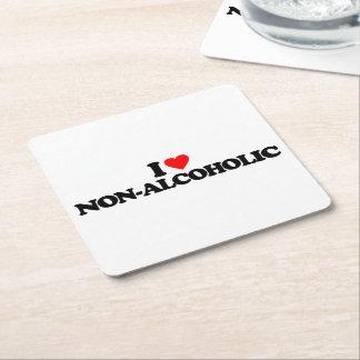 I LOVE NON-ALCOHOLIC SQUARE PAPER COASTER