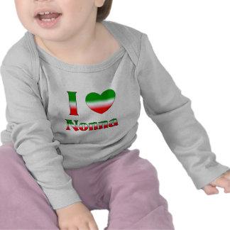 I Love Nonna Italian Grandmother Shirt