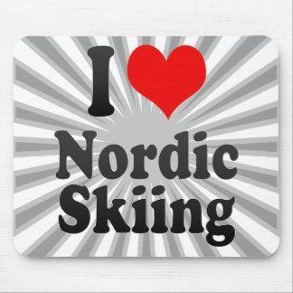 I love Nordic Skiing Mousepad