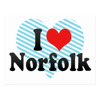 I Love Norfolk Postcard