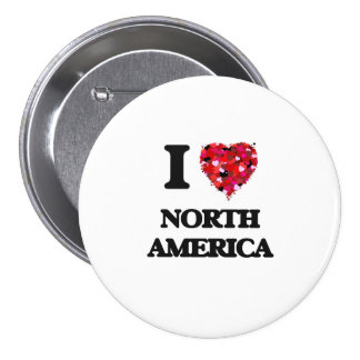 I Love North America 7.5 Cm Round Badge