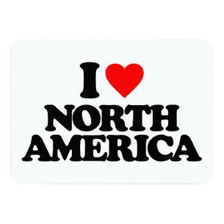 I LOVE NORTH AMERICA 13 CM X 18 CM INVITATION CARD