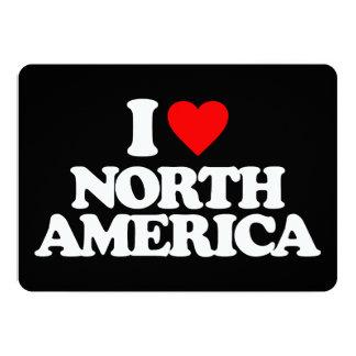 I LOVE NORTH AMERICA ANNOUNCEMENT CARD