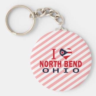 I love North Bend, Ohio Keychains