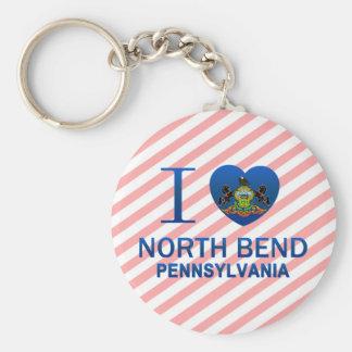 I Love North Bend, PA Key Chain