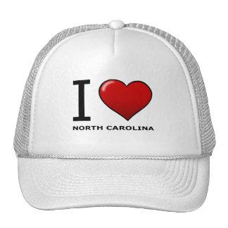 I LOVE NORTH CAROLINA TRUCKER HAT