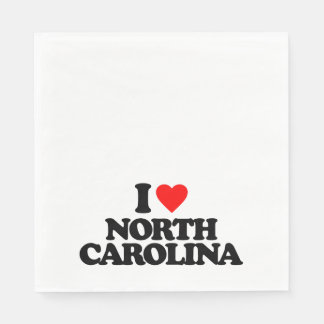 I LOVE NORTH CAROLINA DISPOSABLE NAPKIN